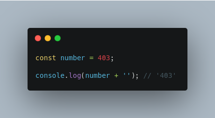 Convert Number to String