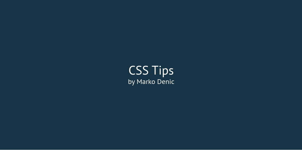 CSS Tips Intro banner