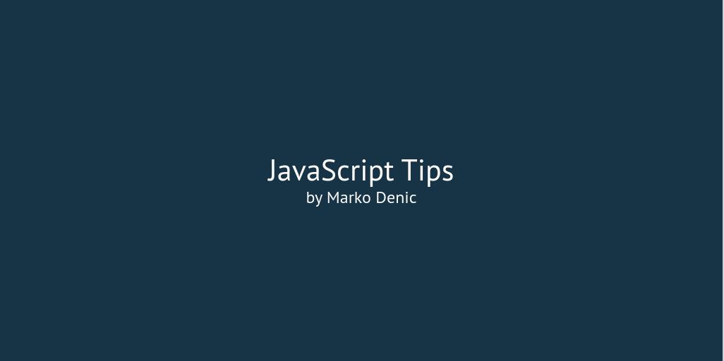 JavaScript Tips Intro Banner