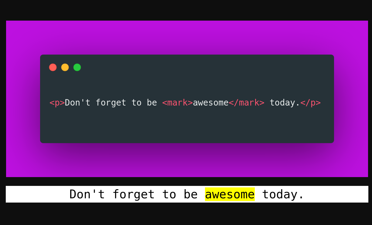 Mark Tag implementation